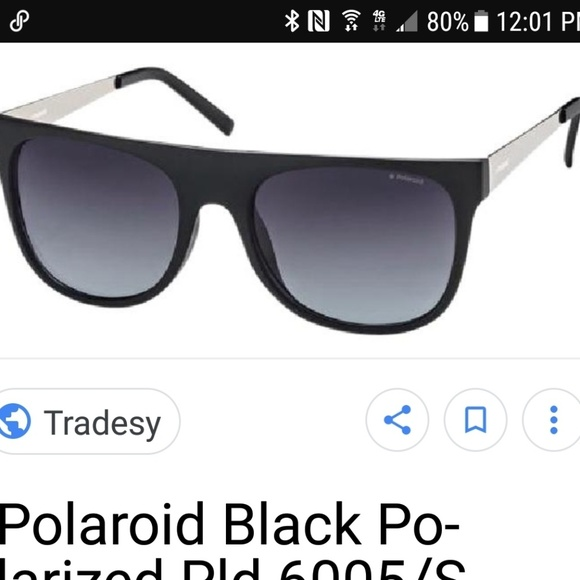 272e3ea4765c0 Poloroid matte black sunglasses